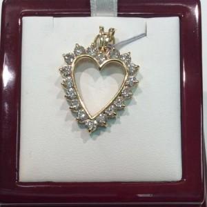 Gold Diamond Heart Jewelry